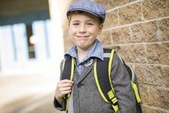 Muchacho pre adolescente en la escuela Foto de archivo