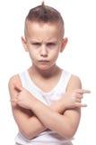 Muchacho punky enojado Fotografía de archivo libre de regalías