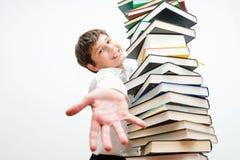 Muchacho, que ama leer Fotografía de archivo