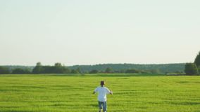 Muchacho que camina en campo metrajes