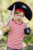 Muchacho que finge ser un pirata Fotografía de archivo libre de regalías