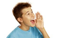 Muchacho que grita Imágenes de archivo libres de regalías