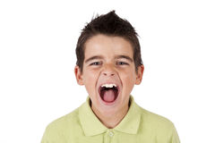 Muchacho que grita Fotos de archivo