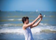 Muchacho que hace el selfie Fotografía de archivo libre de regalías