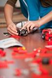 Muchacho que juega con los juguetes Imagen de archivo libre de regalías