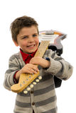Muchacho de la guitarra Fotos de archivo