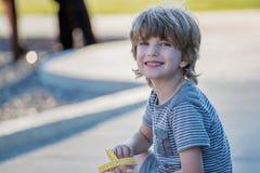 Muchacho rubio joven Foto de archivo libre de regalías