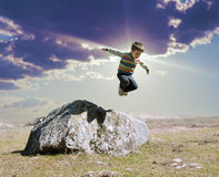 Muchacho saltado Imagen de archivo libre de regalías