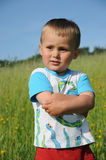 Muchacho seguro de sí mismo joven Foto de archivo libre de regalías