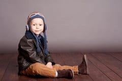Muchacho sonriente del niño Imagen de archivo