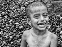 Muchacho sonriente feliz Fotografía de archivo