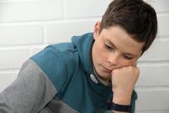 Muchacho triste del adolescente Imagen de archivo libre de regalías