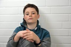 Muchacho triste del adolescente Imágenes de archivo libres de regalías