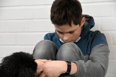Muchacho triste del adolescente Foto de archivo