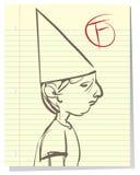 Muchacho triste que falla en escuela Imagen de archivo libre de regalías