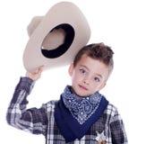 Muchacho vestido como vaquero Imagen de archivo libre de regalías