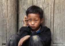 Muchacho vietnamita en el norte de Vietnam Imagen de archivo