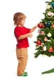 Muchacho y la Navidad Imagen de archivo libre de regalías