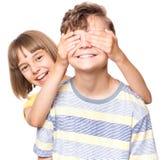 Muchacho y muchacha adolescentes de la amistad Imágenes de archivo libres de regalías