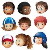 Muchacho y muchacha con la cara feliz libre illustration