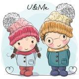 Muchacho y muchacha lindos libre illustration