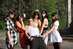 Muchacho y muchachas Foto de archivo libre de regalías
