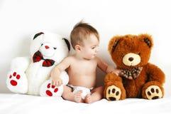 Muchacho y osos Fotografía de archivo libre de regalías