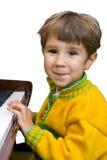 Muchacho y piano Fotos de archivo libres de regalías