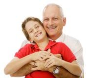 Muchacho y su papá Imagen de archivo