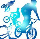 Muchachos abstractos de BMX libre illustration