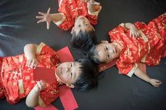 Muchachos chinos en festival chino del Año Nuevo Fotos de archivo libres de regalías
