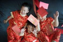 Muchachos chinos en festival chino del Año Nuevo Fotografía de archivo libre de regalías
