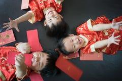Muchachos chinos en festival chino del Año Nuevo Imágenes de archivo libres de regalías
