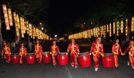 Muchachos con los tambores Fotografía de archivo libre de regalías