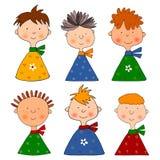 Muchachos. Conjunto de personajes de dibujos animados Fotografía de archivo libre de regalías
