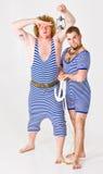 Muchachos de marinero en traje Imágenes de archivo libres de regalías