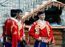 Muchachos de Montenegro Fotografía de archivo libre de regalías