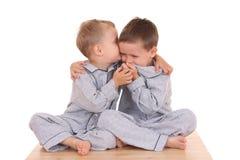 Muchachos de Pijama Fotografía de archivo libre de regalías