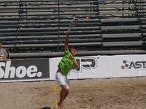 """Muchachos 2016 del †del campeonato del mundo del tenis de la playa de ITF los """"doblan final Foto de archivo"""