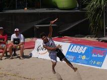 """Muchachos 2016 del †del campeonato del mundo del tenis de la playa de ITF los """"doblan final Fotos de archivo"""