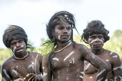 Muchachos hermosos Solomon Islands imagen de archivo libre de regalías
