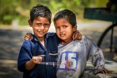 Muchachos indios Imagenes de archivo