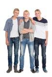 Muchachos jovenes altos en crecimiento completo Foto de archivo
