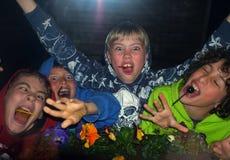 Muchachos jovenes locos Imagenes de archivo