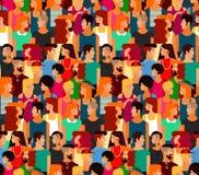 Muchachos, muchachas en modelo colorido de la ropa Foto de archivo libre de regalías