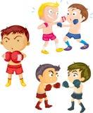 Muchachos que juegan el boxeo libre illustration