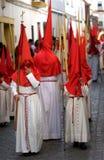 Muchachos y arranque de cinta en Semana Santa marzo Foto de archivo