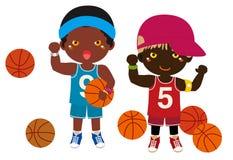 Muchachos y baloncesto Fotografía de archivo libre de regalías