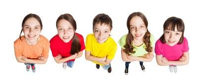 Muchachos y muchachas del grupo Foto de archivo libre de regalías