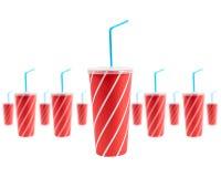 Muchas bebidas de la soda Imagen de archivo libre de regalías